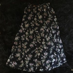Abercrombie & Fitch Floral Maxi Skirt